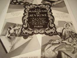 ANCIENNE PUBLICITE CHOCOLATS LA MARQUISE DE SEVIGNE - Affiches
