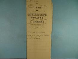 Acte Notarié 1845 Vente Par Poulin De Chimay à Hardy De Vaulx /8/ - Manuscrits