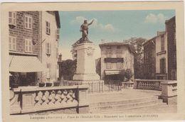 Cpa,haute Loire,langeac,place De L'hotel De Ville, Monument Aux Combattants ,1er Guerre,fontaine,43 - Langeac