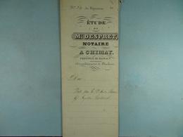 Acte Notarié 1848 Vente Par Baudart De Baileux à Coulonval De Vaulx /9/ - Manuscripts