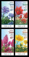 Israel 2018 Mih. 2609/12 Flora. Spring Flowers MNH ** - Nuovi (con Tab)