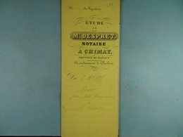 Acte Notarié 1855 Vente Par Gueymard De Chimay à Hardy De Vaulx /10/ - Manuscrits