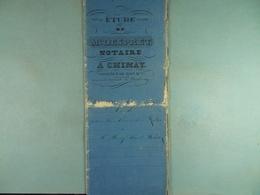 Acte Notarié 1847 Vente Par Gosée De Virelles  à Hardy De Vaulx /11/ - Manuscrits