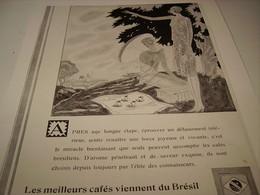 ANCIENNE PUBLICITE APRES UNE LONGUE ETAPE   LE CAFE DU BRESIL - Posters
