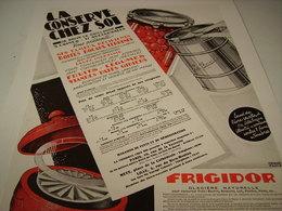 ANCIENNE AFFICHE PUBLICITE CONSERVE FRIGIDOR - Posters