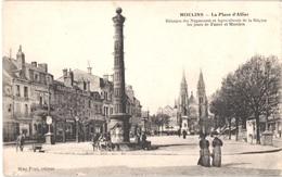 FR03 MOULINS - La Place D'allier - Animée - Belle - Moulins