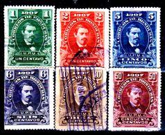 Honduras-0017 - 1907: Valori Della Serie Y&T N.100-107 (o) Used - - Honduras