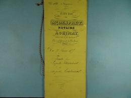 Acte Notarié 1875 Vente Par Bernard D'Aublain à Coulonval De Vaulx /12/ - Manuscrits