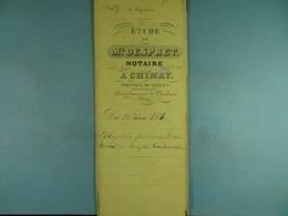 Acte Notarié 1860 Obligation Par Marchand De Rièzes à Coulonval De Vaulx /13/ - Manuscrits