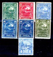 Honduras-0018 - 1911: Valori Della Serie Y&T N.112-119 (sg/o) NG/Used - - Honduras