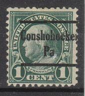 USA Precancel Vorausentwertung Preo, Locals Pennsylvania, Conshohocken 552-230 - Vereinigte Staaten