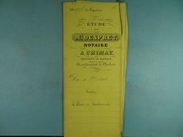 Acte Notarié 1856 Vente Par Tellier De Virelles à Coulonval De Vaulx /14/ - Manuscrits