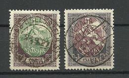 LATVIA Lettland 1920 Michel 44 - 45 O Gut Gestempelt - Lettland