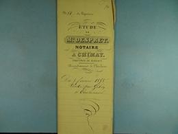 Acte Notarié 1856 Vente Par Gobin De Virelles à Coulonval De Vaulx /15/ - Manuscrits