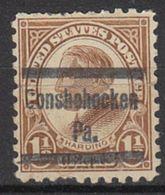 USA Precancel Vorausentwertung Preo, Locals Pennsylvania, Conshohocken 582-579, Perf. Not Perfect - Vereinigte Staaten