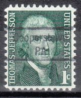 USA Precancel Vorausentwertung Preo, Locals Pennsylvania, Cooperstown 843 - Vereinigte Staaten