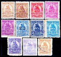 Honduras-0019 - 1919-1922: Valori Della Serie Y&T N.112-119 (+/sg/o) Hinged/NG/Used - - Honduras
