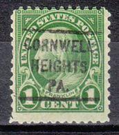 USA Precancel Vorausentwertung Preo, Locals Pennsylvania, Cornwells Heights 632-L-1 HS - Vereinigte Staaten