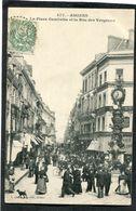 CPA - AMIENS - La Place Gambetta Et La Rue Des Vergeaux, Très Animé - Amiens