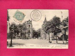 03 Allier, Vichy, Place Du Château D'Eau, Animée, 1903, (Galeries Parisiennes) - Vichy