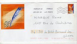Enveloppe Prêt à Poster FRANCE Oblitération LA POSTE 15254A-02 23/03/2018 - Postal Stamped Stationery