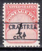 USA Precancel Vorausentwertung Preo, Locals Pennsylvania, Crabtree 882 - Vereinigte Staaten