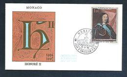 MONACO FDC 1969 HONORE II - FDC