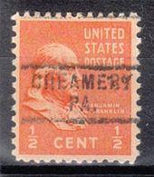 USA Precancel Vorausentwertung Preo, Locals Pennsylvania, Creamery 729 - Vereinigte Staaten