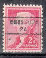 USA Precancel Vorausentwertung Preo, Locals Pennsylvania, Cressona 743 - Vereinigte Staaten