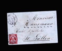 A5349) Schweiz Kleiner Damenbrief Cressier 18.12.90 N. St. Gallen - 1882-1906 Wappen, Stehende Helvetia & UPU