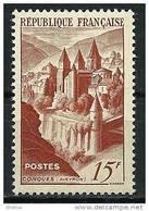 "FR YT 792 "" Abbaye De Conques Brun "" 1947 Neuf** - France"
