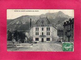 38 Isère, Entrée De Saint-Laurent-du-Pont, Animée, 1909, (J. G.) - Saint-Laurent-du-Pont