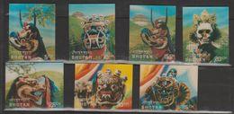 Bhoutan Année 1976 Masques 491-497 - Bhutan