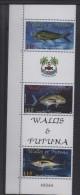 WALLIS  N° 543/545  ** Avec Vignettes   - POISSONS Cote 9 € - Fishes