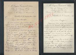 3 LETTRES DE 1890/92/93 DE EUGÉNE GOISSET NOTAIRE À CHÂTILLON SUR SEINE : - Manuscripts
