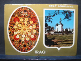 CP. 436. Iraq. Carte Postale Avec Deux Auto-collants De L'Iraq - Iraq