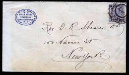 A5351) Österreich Levante Brief Constantinopel 20.6.1907 New York / US - Oriente Austriaco