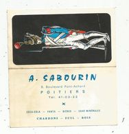 Calendrier , Petit Format , 12 X 6.5 , A. SABOURIN ,Poitiers , Vienne , Militaire, Militaria, 3 Scans - Kleinformat : 1961-70