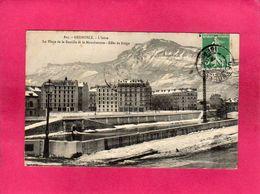 38 Isère, Grenoble, L'Isère, La Place De La Bastille Et Le Moucherotte, Effet De Neige, 1909, (A. V., L. P.) - Grenoble