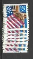 USA 1999 Definitives Flag Over Porch, Coil With Plates Lot à Examiner, 2 Scans - Estados Unidos