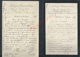3 LETTRES DE 1891/93 DE EUGÉNE GOISSET NOTAIRE À CHÂTILLON SUR SEINE : - Manuskripte