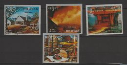 Bhoutan Année 1969 Histoire De L'acier (lithographiés Sur Acier) PA 50-54 - Bhoutan