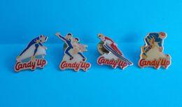 Lot De 4 Pin's De La Marque Candy Up - Sports D'Hiver - Winter Sports