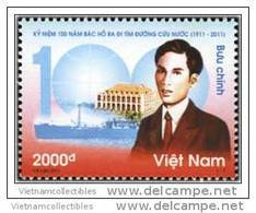 Vietnam Viet Nam MNH Stamp 2011 : 100th Ann. Of President Ho Chi Minh Going Abroad To Find Way Of Liberty (Ms1007) - Viêt-Nam