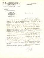 Factuur Facture - Brief Lettre - Centrale Boekhandel - Campe Leon - Moeskroen - Printing & Stationeries