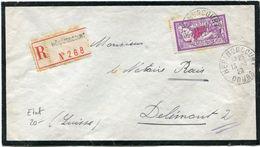 FRANCE LETTRE RECOMMANDEE DEPART HERIMONCOURT 13-3-29 DOUBS POUR LA SUISSE - Storia Postale