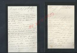 2 LETTRES DE 1893 ECT ECRITE DE ROSCOFF FAMILLE GEOFFROY : - Manuscripts