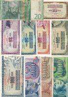 Yugoslavia Lot 11 Different Banknotes - Yugoslavia
