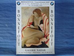 Affiche D'exposition De L'artiste Peintre Bonnefoit - 66 X 48 Cm - Affiches