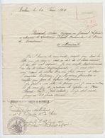 Militaria, Archiac, Février 1914, , Princival, Lettre Bureau Recrutement Marseille, Exempté, Réformé, Réponse Au  Verso - Documentos
